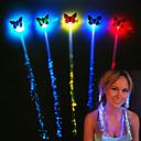 ieftine Lumini & Gadget-uri LED-1 set 7pcs led luminos păr împletit flash fibra ac de păr clip clip luminos bandă fluture luminescent petrecere de Anul Nou cadou de Crăciun baterii alimentate de Halloween led