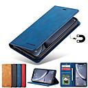 voordelige Galaxy A8 Hoesjes / covers-luxe case voor samsung galaxy a70 a50 a40 a30 a20 a10 a90 a20e a7 2018 a8 2018 telefoon case lederen flip portemonnee magnetische cover met kaart
