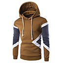 povoljno Muške jakne-Muškarci Osnovni Slim Hoodie Jednobojni S kapuljačom