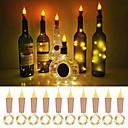 povoljno LED svjetla u traci-loende plamena pluto svjetla u obliku pakiranja 10 paketa krijesnica plovila svjetla boce upravljaju lampicama za svijeće za boce vina