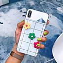 povoljno iPhone maske-Θήκη Za Apple iPhone XS / iPhone XR / iPhone XS Max Protiv prašine / Zrcalo / Uzorak Stražnja maska Geometrijski uzorak / Cvijet TPU