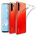 رخيصةأون Huawei أغطية / كفرات-غطاء من أجل Huawei Huawei P30 Pro نحيف جداً / مثلج غطاء خلفي لون سادة TPU