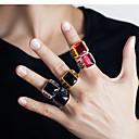 ieftine Inele-Bărbați Band Ring Inel 1 buc Negru Alb Auriu Teak Cristal Austriac Stilat Vintage La modă Petrecere Zilnic Bijuterii Sculptură Leaf Shape