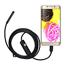cheap Microscopes & Endoscopes-5.5mm Lens USB Endoscope Camera Waterproof IP67 Inspection Borescope Soft 2M Length for Android PC