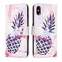 رخيصةأون أغطية أيفون-غطاء من أجل Apple iPhone XS / iPhone XR / iPhone XS Max محفظة / حامل البطاقات / ضد الصدمات غطاء كامل للجسم مأكولات جلد PU