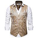 povoljno Muški sakoi i odijela-Muškarci Mellény, Geometrijski oblici V izrez Poliester Obala / Crn / Sive boje / Slim