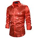 رخيصةأون قمصان رجالي-رجالي أساسي ترتر قميص, لون سادة أزرق / أحمر