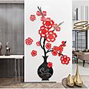 ieftine Peruci & Extensii de Păr-autocolant de perete cu flori acrilice