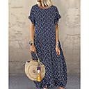 abordables Pendientes-Mujer Camiseta Vestido A Lunares Maxi