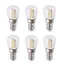 povoljno LED žarulje s nitima-6kom 3 W LED okrugle žarulje 300 lm E14 26 LED zrnca SMD 2835 Toplo bijelo Bijela 220-240 V