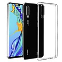 cheap Huawei Case-Case For Huawei Huawei P30 Ultra-thin / Frosted Back Cover Solid Colored TPU