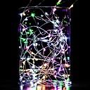 povoljno LED svjetla u traci-10m string svjetla 100 leds toplo bijelo bijelo plava vodootporni ukrasne bakrene žice srebrne linije aa baterije powered 1pc