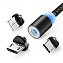 povoljno iPhone maske-magnetski kabel pleten LED tip c mikro usb magnetski kabel za punjenje za Apple iphone x 7 8 6 xs max xr samsung s9 kabel
