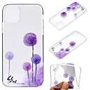 ieftine Îngrijire Unghii-carcasă pentru apple iphone 11 / iphone 11 pro / iphone 11 pro max ultra-subțire / transparent / model copertă din spate floare tpu moale