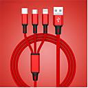 رخيصةأون أغطية-كابل usb لآيفون xs x 8 7 6 شاحن الشحن 3 في 1 كابل usb الصغير لالروبوت usb typec كابلات الهاتف المحمول لسامسونج s9