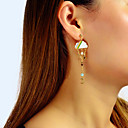 povoljno Modne ogrlice-Žene Viseće naušnice Geometrijski MOON Csillag oblaci Jedinstven dizajn Romantični Elegantno Naušnice Jewelry Zlato Za Party Karneval Ulica Rad 1 par