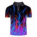 povoljno Muške polo majice-Polo Muškarci - Osnovni / Ulični šik Dnevno / Izlasci Color block / 3D / Grafika Print Duga