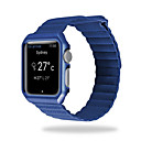 tanie Opaski do Apple Watch-Watch Band na Apple Watch Series 4/3/2/1 Jabłko Pasek sportowy Prawdziwa skóra Opaska na nadgarstek