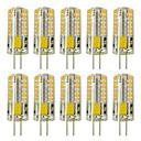 ieftine Becuri LED Bi-pin-zdm 10buc g4 5w 3014 x 48 leduri cu lămpi cu lumină albă ac12v echivalente nemodificabile echivalente cu 20w-25w t3 halogen cu înlocuire becuri led
