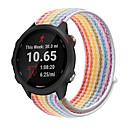 رخيصةأون أساور ساعات Garmin-nylon loop watch strap for garmin forerunner 245 music / forerunner 645 strap / vivoactive 3 band / vivomove hr سوار بديل