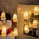 povoljno LED svjetla u traci-3m snjegović svjetlovodne lampice božićne lampice 20 led tople bijele ukrasne 5 v 1 set