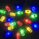 povoljno LED svjetla u traci-3m engleska slova niz svjetla 20 led više boja rođendanski praznički ukrasni 5 v 1 set
