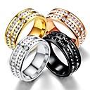 olcso Karikagyűrűk-Férfi Női Band Ring Gyűrű Tail Ring 1db Fekete Ezüst Vörös arany Rozsdamentes acél Körkörös Vintage Alap Divat Ajándék Ékszerek Menő