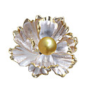 cheap Women's Watches-Women's Pearl Brooches Flower Stylish Simple Sweet Fashion Pearl Brooch Jewelry Golden For Wedding Party Engagement Gift Work