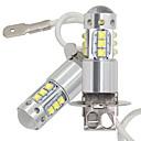 ieftine Faruri de Mașină-2 buc mașină h3 led lumină de ceață drl 16smd led cu cipuri cree lampa de ceață 80w 16led faruri de coadă drl bec de ceață 12-24v