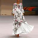 رخيصةأون قلادات-فستان نسائي متموج طويل للأرض ألوان متناوبة