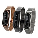 voordelige Horlogebandjes voor Xiaomi-Horlogeband voor Mi Band 3 Xiaomi Klassieke gesp Roestvrij staal Polsband