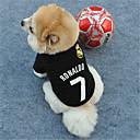 رخيصةأون مستلزمات وأغراض العناية بالكلاب-قط كلب T-skjorte ملابس الكلاب كوستيوم تيريليني مطبوعة بأحرف وأرقام الكوسبلاي XS S M L