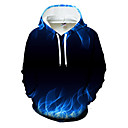 povoljno Muške majice s kapuljačom i trenirke-Muškarci Ležerne prilike / Osnovni Hoodie Color block / 3D