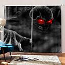 رخيصةأون الستائر-جديد uv الطباعة الرقمية العين الحمراء الوحش ستائر خلفية ستارة التعتيم النسيج الستار عن غرفة الجلوس / غرفة النوم