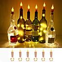 povoljno LED svjetla u traci-loende plamena pluta u obliku svjetla 6 pack svjetlosna plovila svjetla boca upravljaju baterijama svijeće za svijeće za boce vina