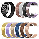 voordelige Galaxy A-serie hoesjes / covers-Horlogeband voor Fitbit Blaze / Fitbit Versa / Fitbit Versa Lite Fitbit Milanese lus Roestvrij staal Polsband