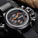 ieftine Ceasuri Bărbați-MEGIR Bărbați Ceas Sport Ceas Militar  Ceas de Mână Japoneză Quartz Silicon Negru / Alb 30 m Rezistent la Apă Calendar Cronograf Analog Casual Șic & Modern Exterior Modă Ceas Elegant - Negru Alb