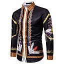 tanie Męskie koszule-Koszula Męskie Podstawowy Kolorowy blok Tęczowy