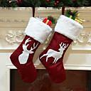 お買い得  ホームデコレーション-ストッキング / クリスマス / クリスマスオーナメント クリスマス / 休暇 / 家族 布 カートゥン / パーティー / アイデアジュェリー クリスマスの飾り