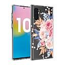 voordelige iPhone 11 Pro screenprotectors-hoesje Voor Samsung Galaxy Note 9 / Galaxy Note 10 / Galaxy Note 10 Plus Transparant / Patroon Achterkant Bloem TPU