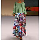 رخيصةأون ساعات ذكية-فستان نسائي قياس كبير كلاسيكي عصري أساسي طباعة طويل للأرض فضفاض هندسي