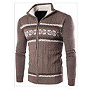 abordables Pulls & Cardigans pour Homme-Homme Couleur Pleine Manches Longues Pullover Pull pull, Col Haut Gris Clair / Marron / Bleu Marine US36 / UK36 / EU44 / US38 / UK38 / EU46 / US40 / UK40 / EU48