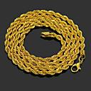 povoljno Prstenje-Muškarci Lančići Strands Ogrlica U obliku pletenice Jedinstven dizajn Moda Pozlaćeni Krom Zlato 76 cm Ogrlice Jewelry 1pc Za Dnevno