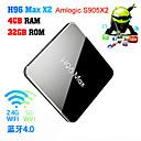 povoljno Smart Lights-h96 max amlogic s905x2 android 8,1 4gb ddr4 32gb tv box dual band wifi lan bluetooth usb3,0 hdmi