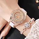 cheap Women's Watches-Women's Fashion Watch Simulated Diamond Watch Pave Watch Quartz White Analog Charm Luxury Casual - Gold