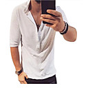 cheap Men's Tees & Tank Tops-Men's Daily T-shirt - Solid Colored Black