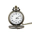 رخيصةأون ساعات الرجال-رجالي ساعة جيب كوارتز فينتاج ساعة كاجوال كوول تناظري-رقمي عتيق - برونز فضي