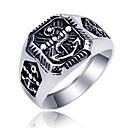 ieftine Inele-Bărbați Band Ring Inel Tail Ring 1 buc Argintiu Oțel titan Circular Vintage De Bază Modă Cadou Zilnic Bijuterii Σταυρός Cool