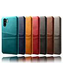 رخيصةأون بنطلونات رجالي-غطاء من أجل Huawei Huawei P30 Pro احتياطية غطاء خلفي لون سادة جلد PU