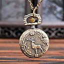 رخيصةأون ساعات الرجال-رجالي ساعة جيب كوارتز فينتاج إبداعي تصميم جديد تناظري-رقمي عتيق - برونز